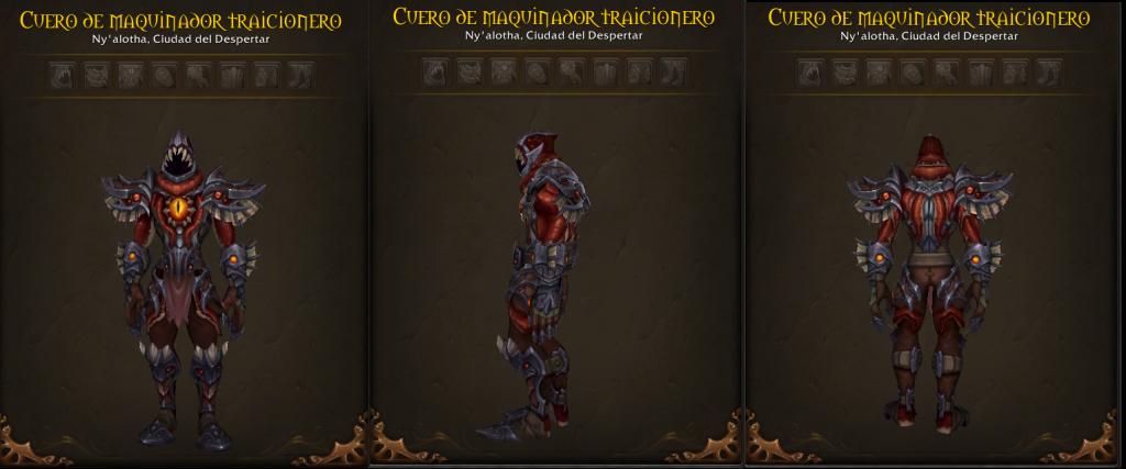 conjunto armaduras cuero 8.3