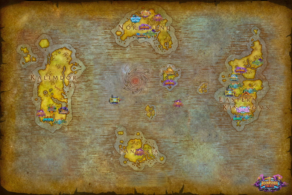 mapa expansiones hearthstone
