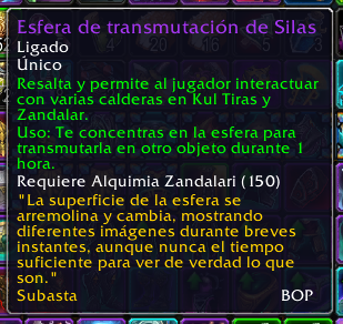 Esfera de transmutación de Silas