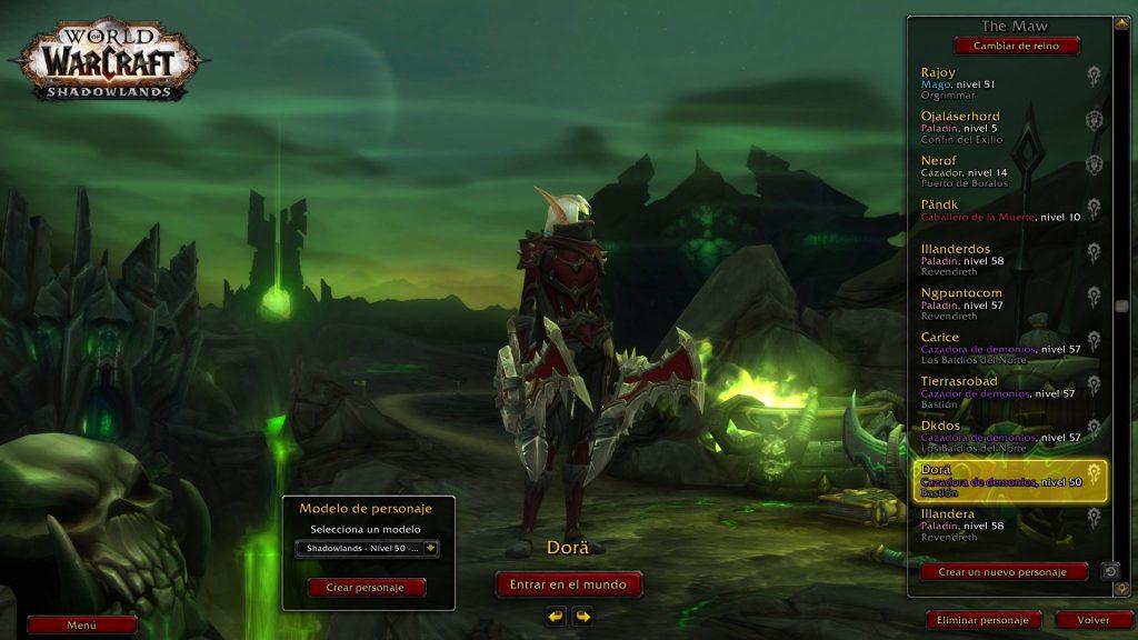 cazadores de demonios Shadowlands