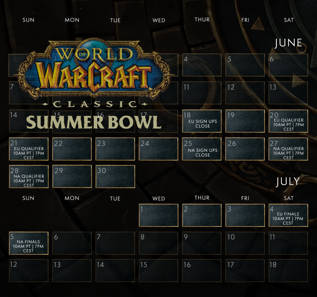 World of Warcraft Classic Summer Bowl.