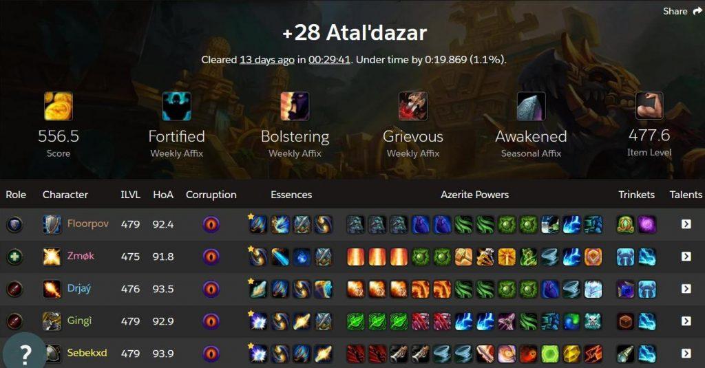 atal'dazar +28