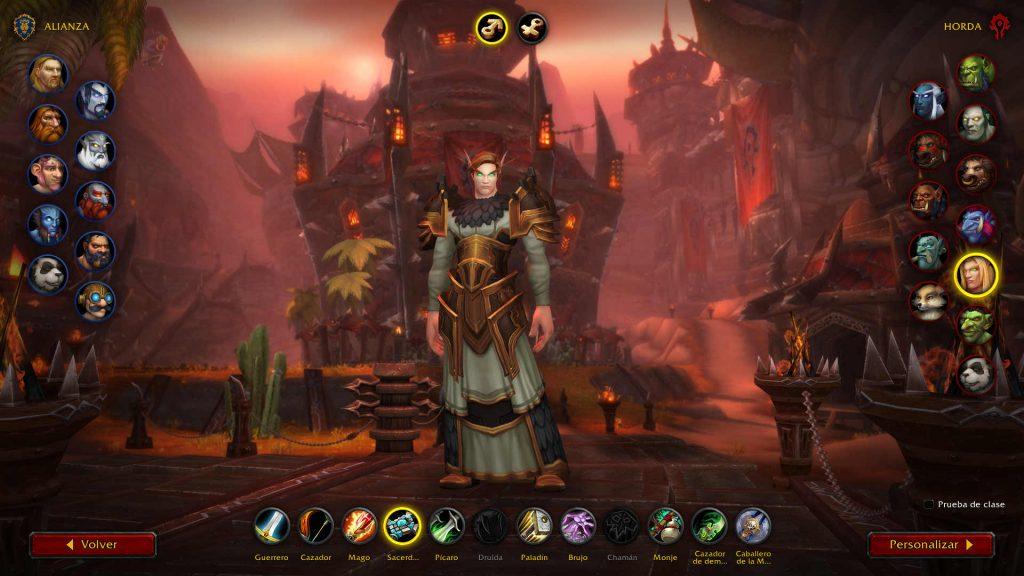 Armadura nueva Shadowlands Sacerdote