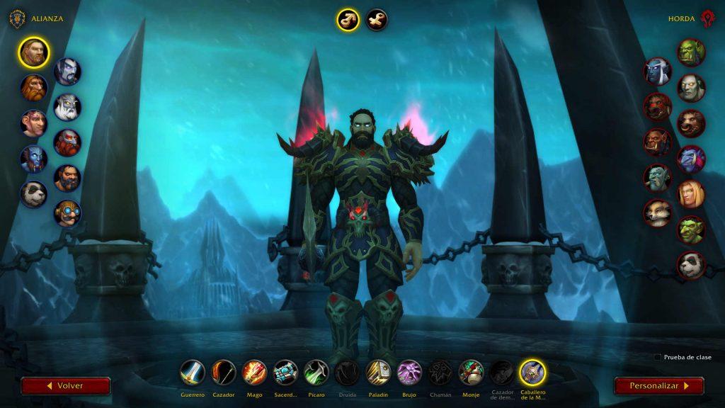 Armadura nueva Shadowlands Caballero de la Muerte