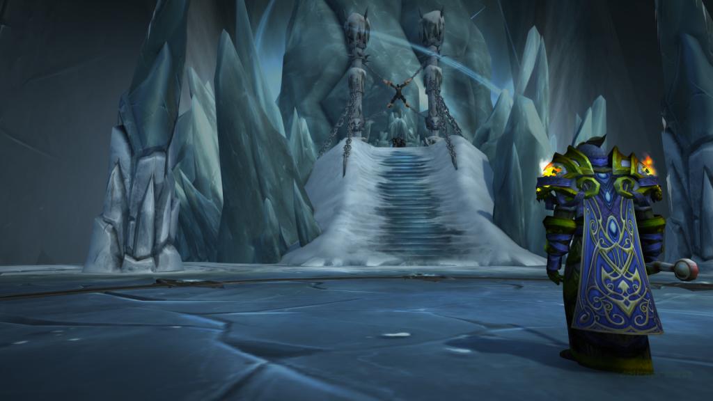 Ciudadela de la corona de hielo, frente al Rey Exánime